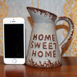 "Кувшин серый с надписью ""home sweet home"""