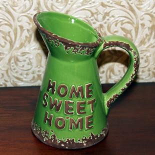 "Кувшин зеленный с надписью ""home sweet home"""