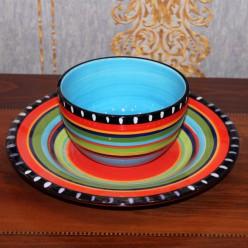 Тарелка с блюдцем