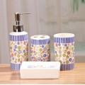 Набор для ванной с цветочными узорами