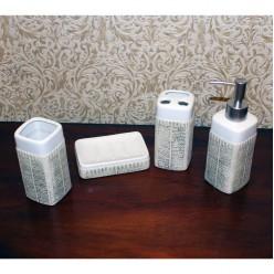 Набор для ванной c покрытием - мыльница, дозатор для жидкого мыла, стакан, стакан для зубных щеток-Ванная-bakida-qiymeti-almaq-baku